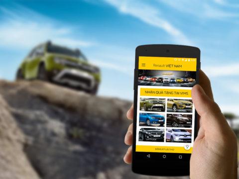 Ứng dụng Android giới thiệu mẫu xe mới nhất của Renault